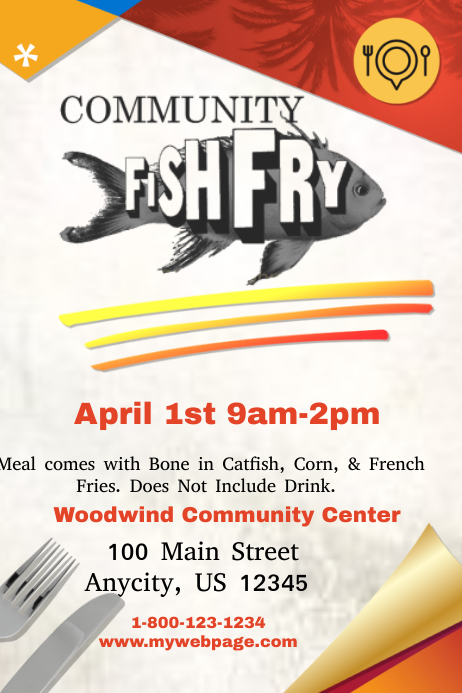 community fish fry template