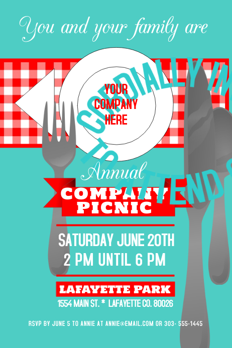 company picnic template postermywall