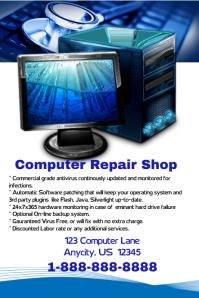 Computer Repair Poster Template