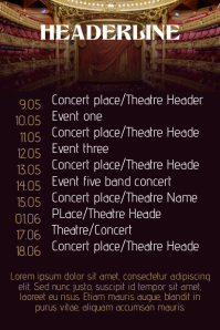 Theatre and Film Poster Templates   PosterMyWall