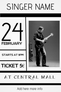 concert event live music poster template