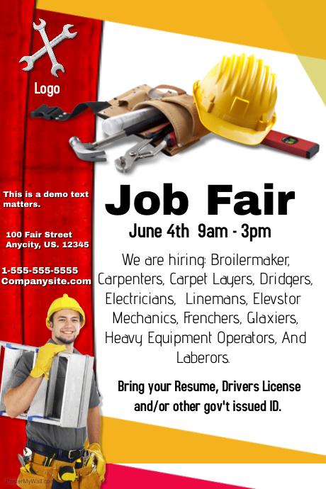 job fair poster template zaxa tk