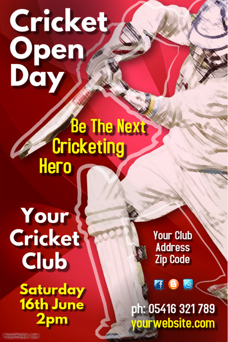 Cricket Poster Templates | PosterMyWall