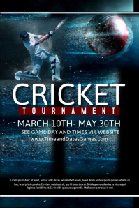 Customizable Design Templates For Cricket Postermywall