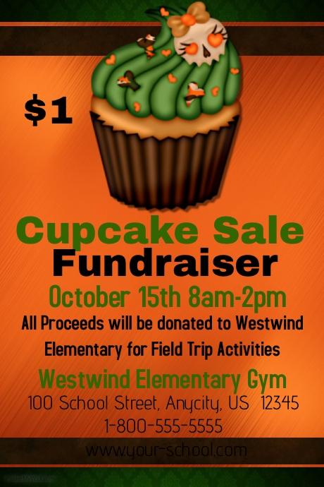 cupcake fundraiser template