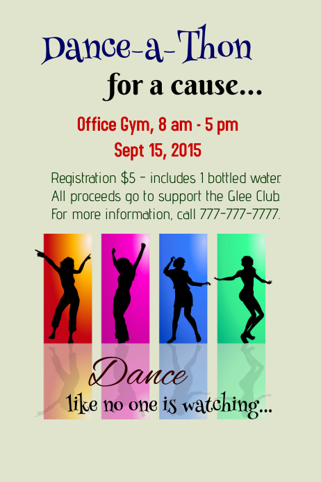 dance fundraiser template