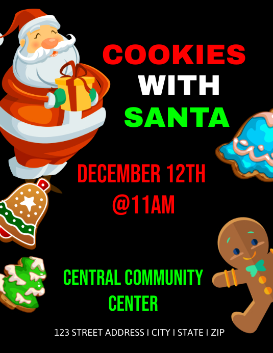 cookies with santa event template