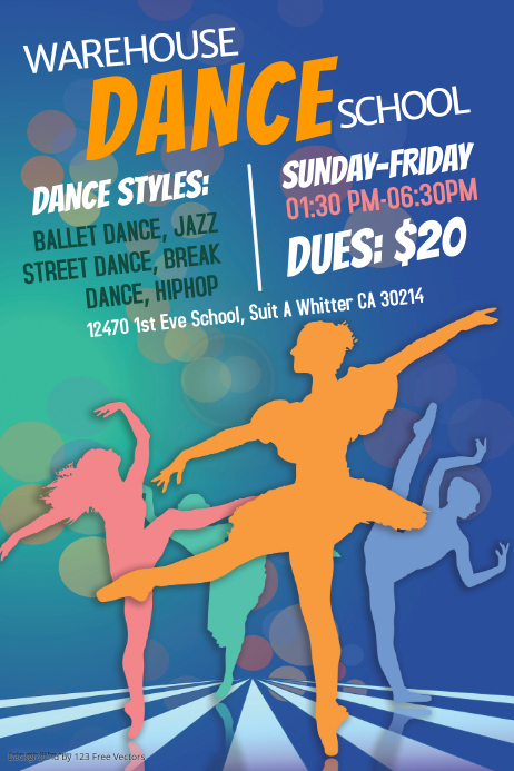 Dance and Ballet Poster Templates | PosterMyWall