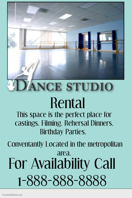 rental property flyer template - dance studio rental property flyer template postermywall