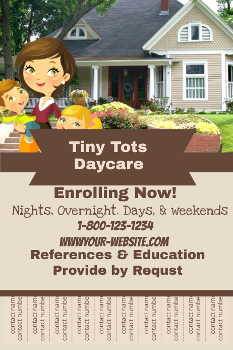 daycare flyer template postermywall. Black Bedroom Furniture Sets. Home Design Ideas