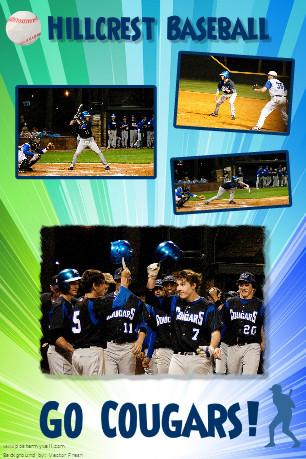 baseball custom poster idea