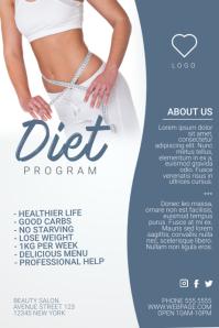 diet program weight loss flyer template