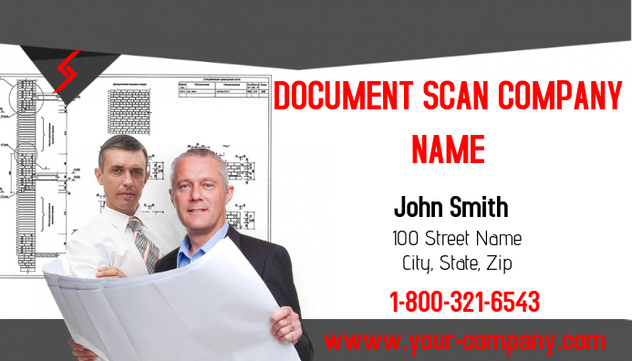 Document Scanning Services Austin Document Scan Company Business Card Template Postermywall