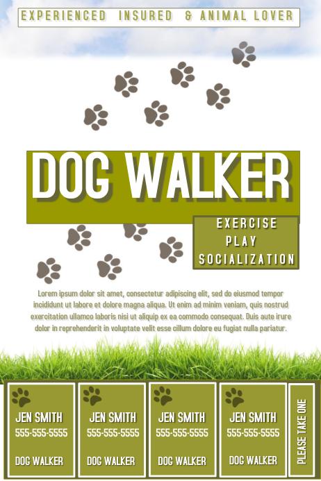 dog walker template postermywall. Black Bedroom Furniture Sets. Home Design Ideas