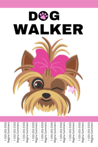 Pets Flyer Templates | PosterMyWall ... Dog walker ...