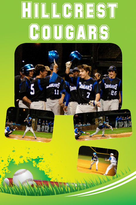 school baseball custom poster idea
