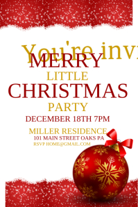 christmas poster templates promote your christmas promotions and ...