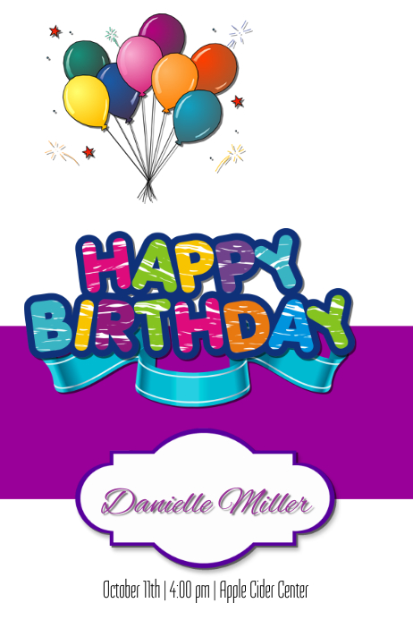birthday card template  postermywall