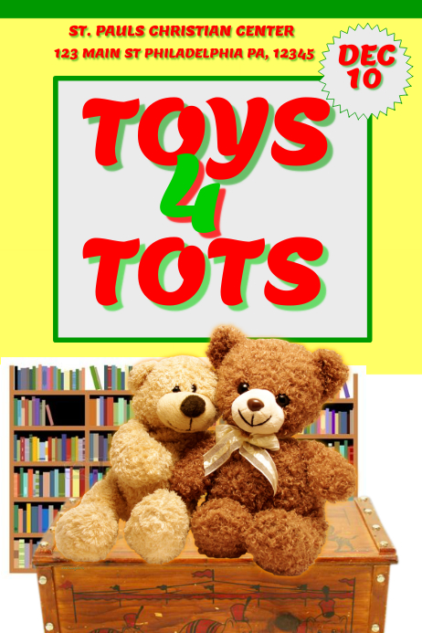 Toys For Tots Font : Toys for tots template postermywall
