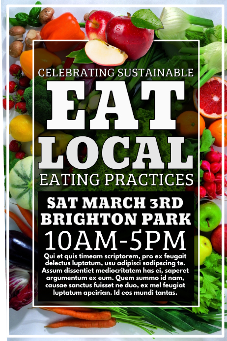 eat local poster - photo #17