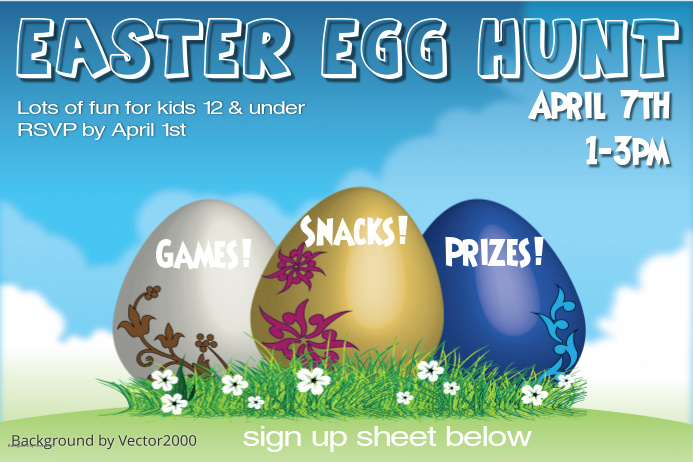 DIY Easter Egg Hunt Flyers – Easter Flyer Template