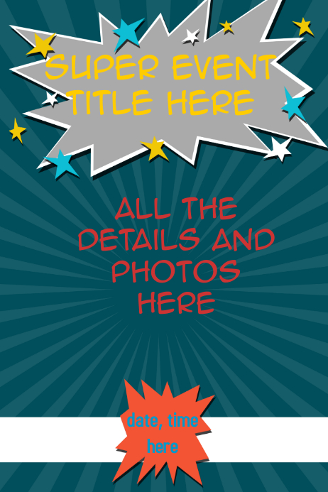 event flyer superhero theme template postermywall
