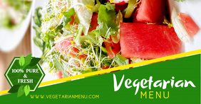 Vegetarian Facebook Shared Image Template