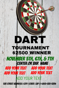 Dart Tournament event template