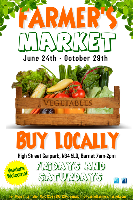 Farmers Market Poster template : PosterMyWall