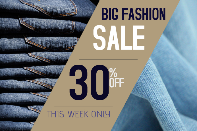 Fashion jeans sale poster template | PosterMyWall