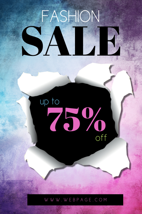 Fashion sale Flyer Template Colorful | PosterMyWall
