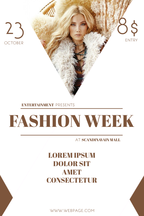 fashion week flyer template | PosterMyWall