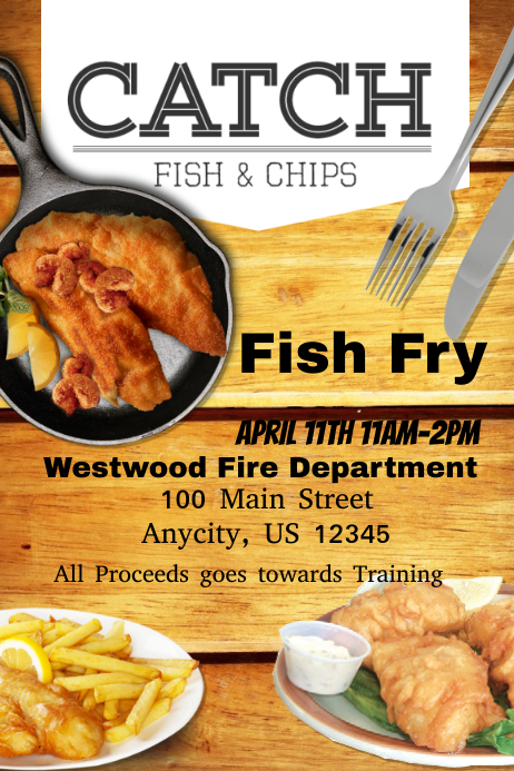 Fish fry postermywall for How to make fish fry