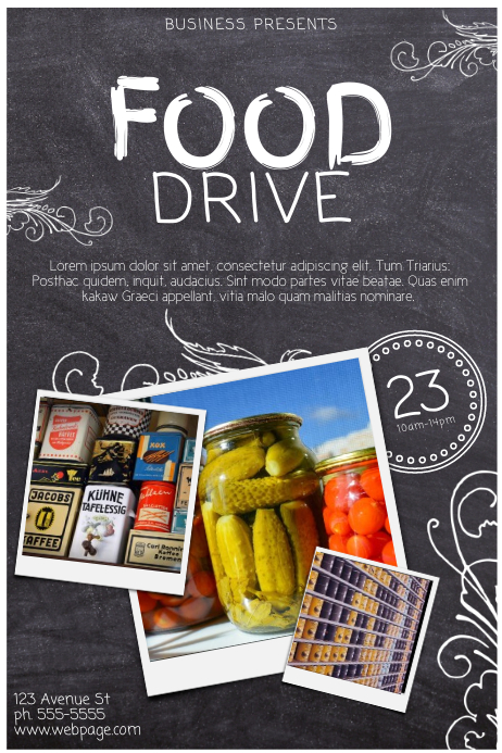 school food drive flyer sample bing images. Black Bedroom Furniture Sets. Home Design Ideas