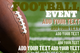 football party poster template