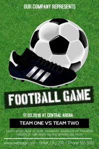 football soccer game flyer template