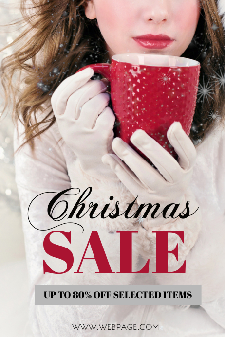 Free Fashion Sale Retail Christmas Flyer Template ...