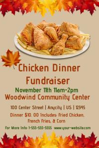 Fried Chicken Fundraiser template