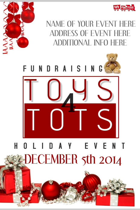 Announcement Email Sample Toys For Tots : Fundraiser event template postermywall