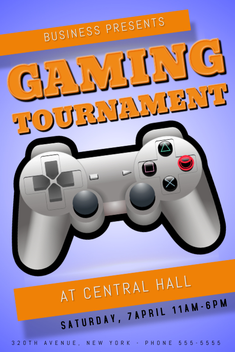 gaming tournament flyer template postermywall. Black Bedroom Furniture Sets. Home Design Ideas