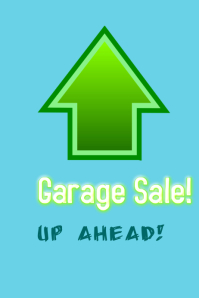 Garage Sale Direction Signs