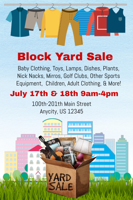 Yard Garage Sale Flyer Template Postermywall