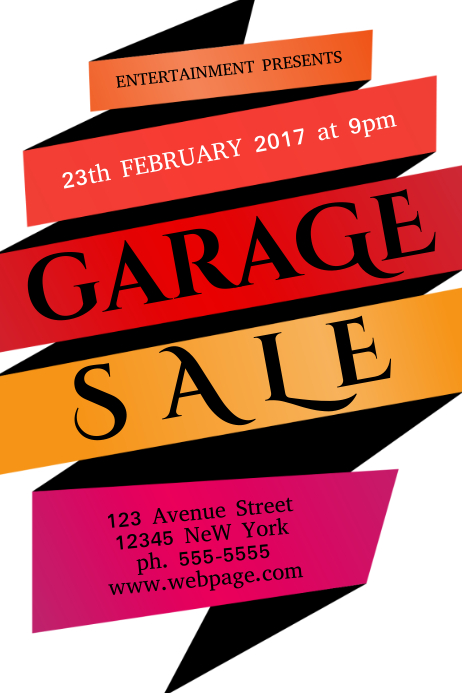 Garage sale flyer template postermywall