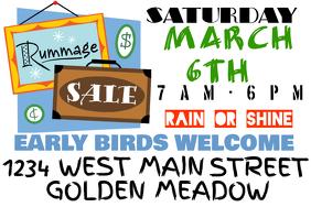 Rummage/ Yard/ Garage Sale Sign