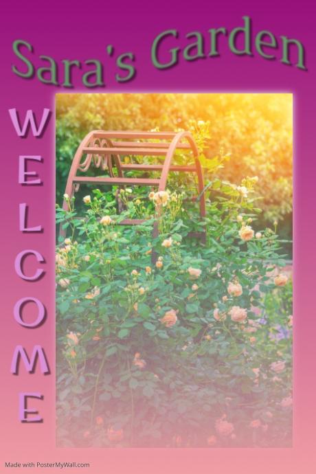 Garden template PosterMyWall