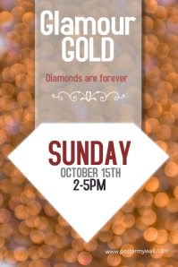 Glamour gold diamond event or sale  poster