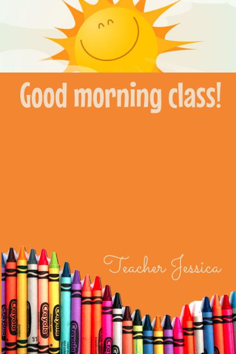 Good morning class template