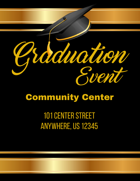 Graduation Event Flyer template : PosterMyWall