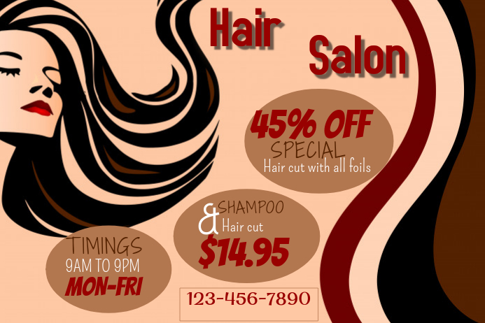 Hair Salon Flyer Template by Jaffer Haider: www.postermywall.com/index.php/poster/view...