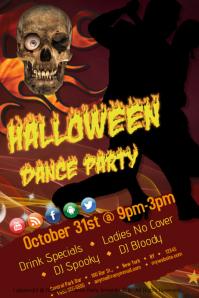 Halloween Dance Party Template